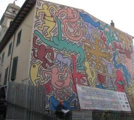 ARTE: COMPLETATA PULITURA MURALE HARING A PISA